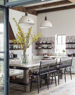 Stylish and inspired farmhouse kitchen island ideas and designs (68)