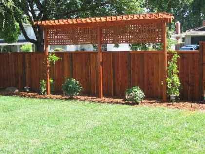 Wooden privacy fence patio & garden ideas (11)