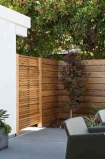 Wooden privacy fence patio & garden ideas (12)
