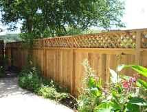 Wooden privacy fence patio & garden ideas (19)