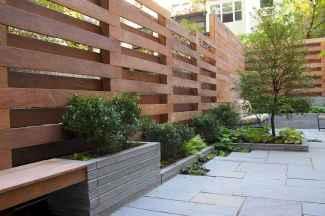 Wooden privacy fence patio & garden ideas (20)