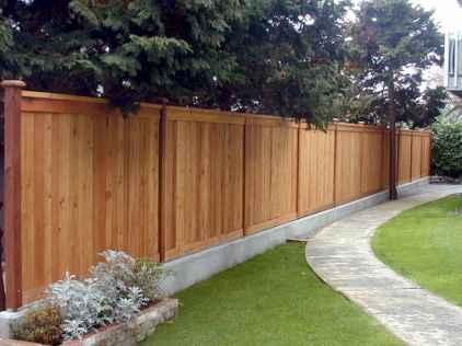 Wooden privacy fence patio & garden ideas (23)