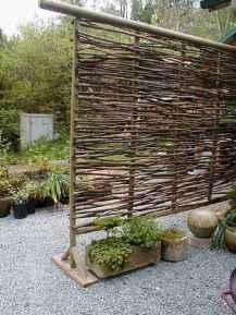 Wooden privacy fence patio & garden ideas (30)