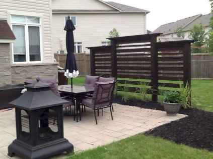 Wooden privacy fence patio & garden ideas (32)