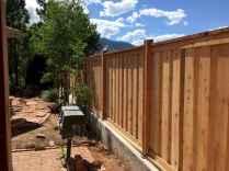 Wooden privacy fence patio & garden ideas (33)