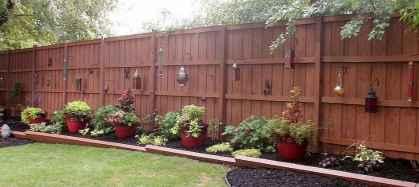 Wooden privacy fence patio & garden ideas (4)
