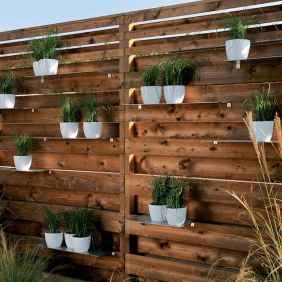Wooden privacy fence patio & garden ideas (40)