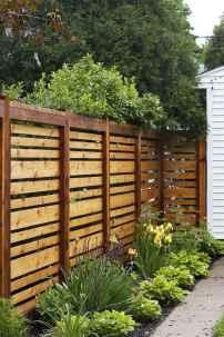 Wooden privacy fence patio & garden ideas (44)