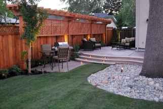 Wooden privacy fence patio & garden ideas (8)