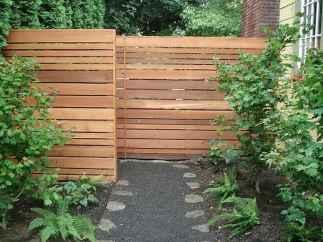 Wooden privacy fence patio & garden ideas (9)