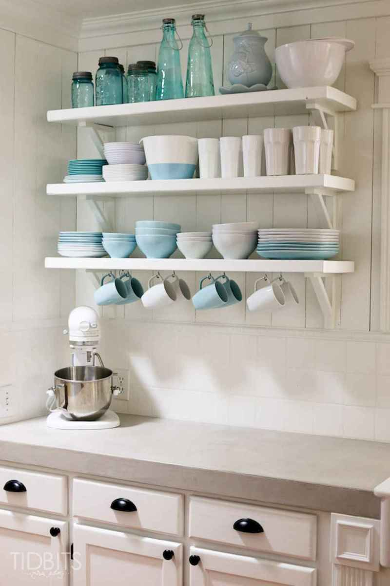 Clever small kitchen remodel and open shelves ideas (22)