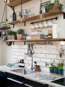 Clever small kitchen remodel and open shelves ideas (44)