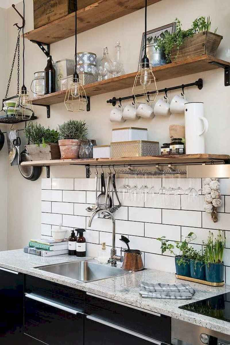 Clever small kitchen remodel and open shelves ideas (45)