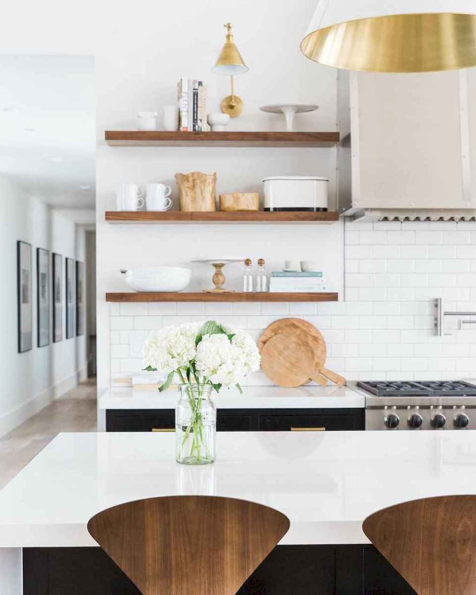 Clever small kitchen remodel and open shelves ideas (62)