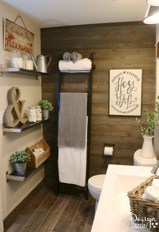 Cool bathroom storage shelves organization ideas (11)