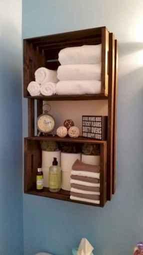 Cool bathroom storage shelves organization ideas (13)
