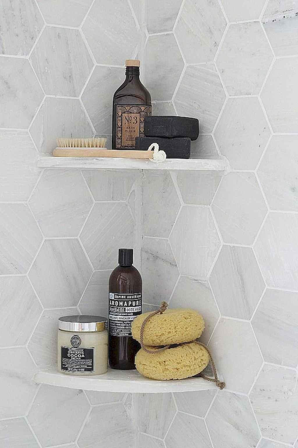 Cool bathroom storage shelves organization ideas (15)