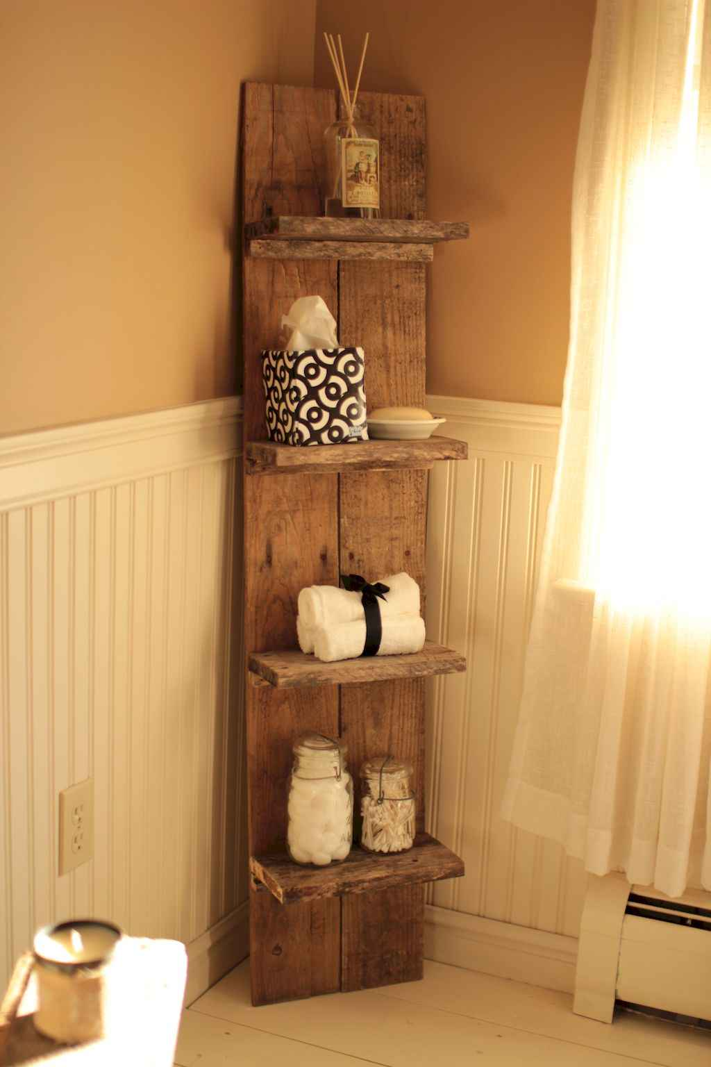 Cool bathroom storage shelves organization ideas (16)