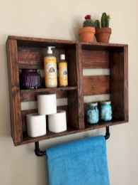Cool bathroom storage shelves organization ideas (26)