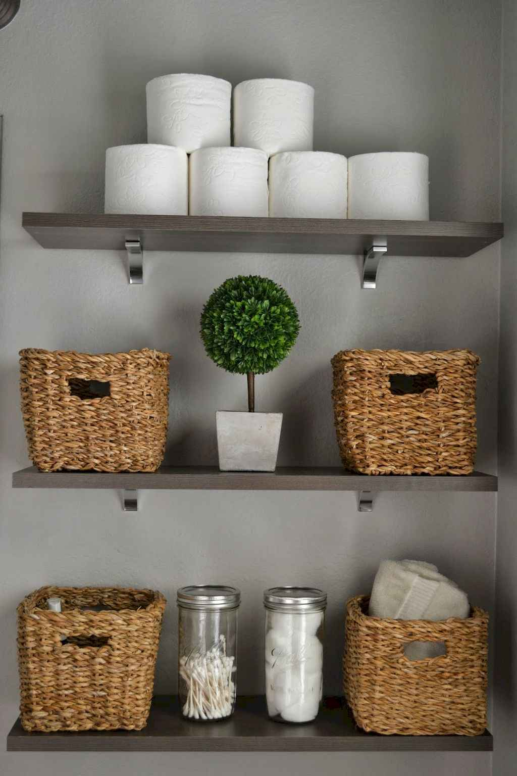 Cool bathroom storage shelves organization ideas (3)