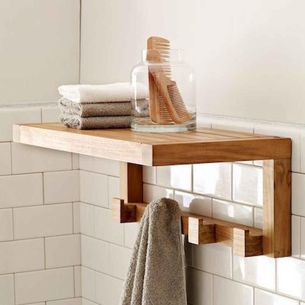 Cool bathroom storage shelves organization ideas (32)