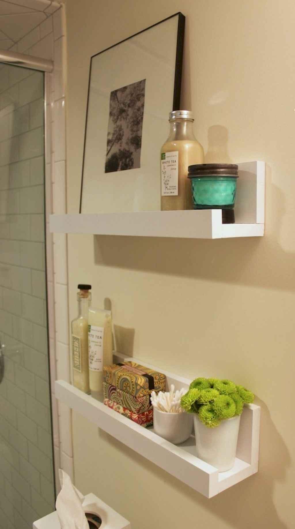 Cool bathroom storage shelves organization ideas (40)
