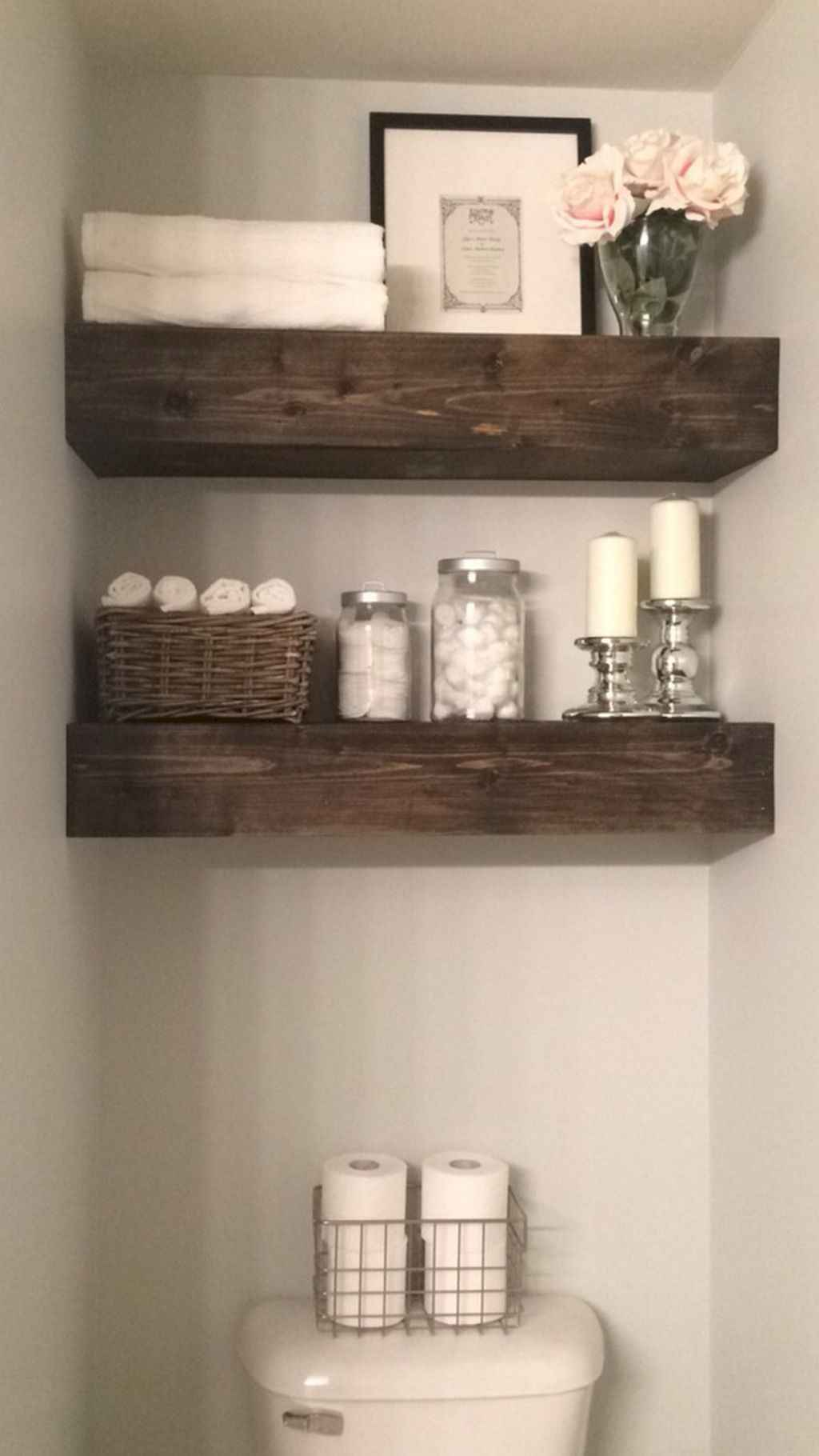 Cool bathroom storage shelves organization ideas (43)