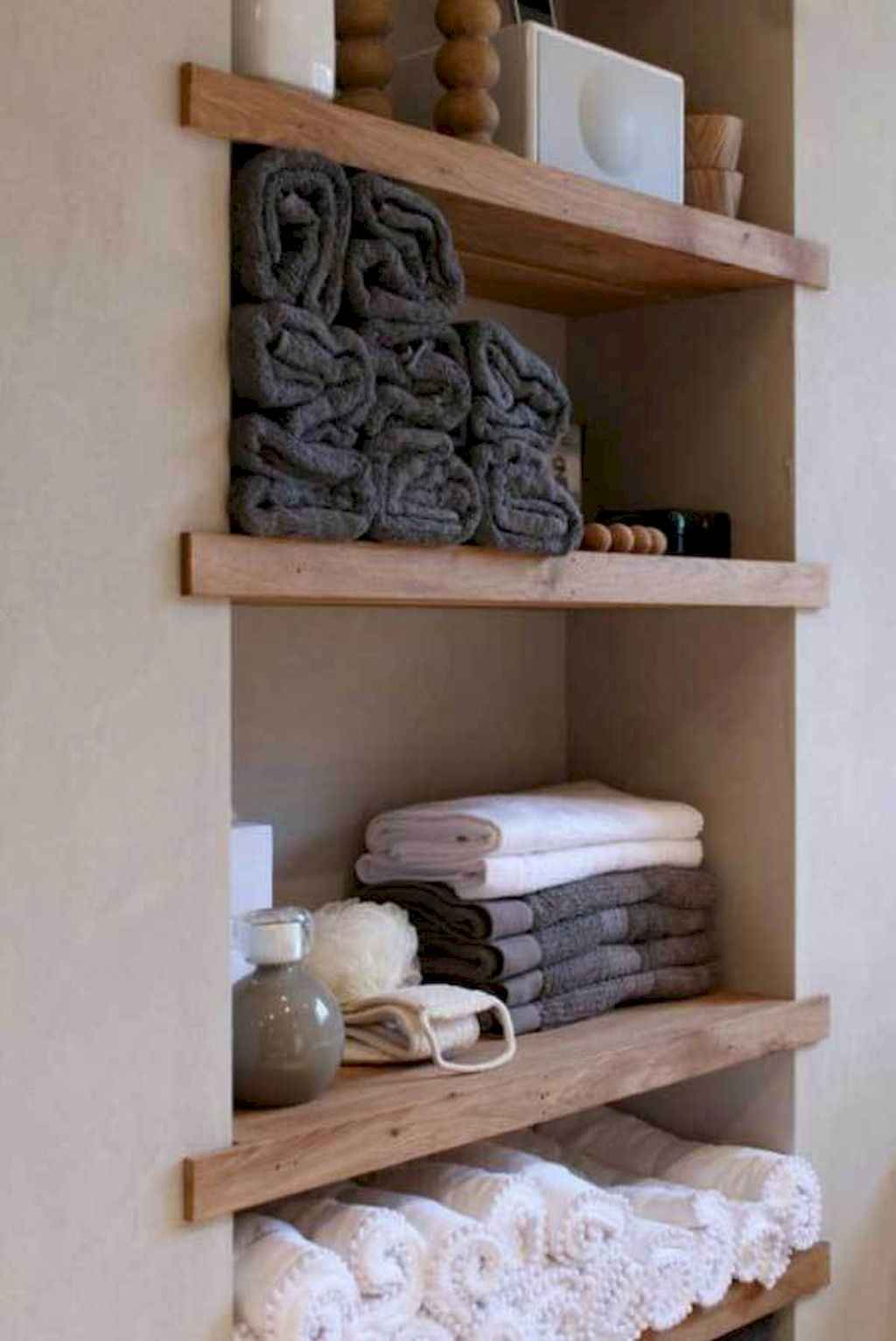Cool bathroom storage shelves organization ideas (48)