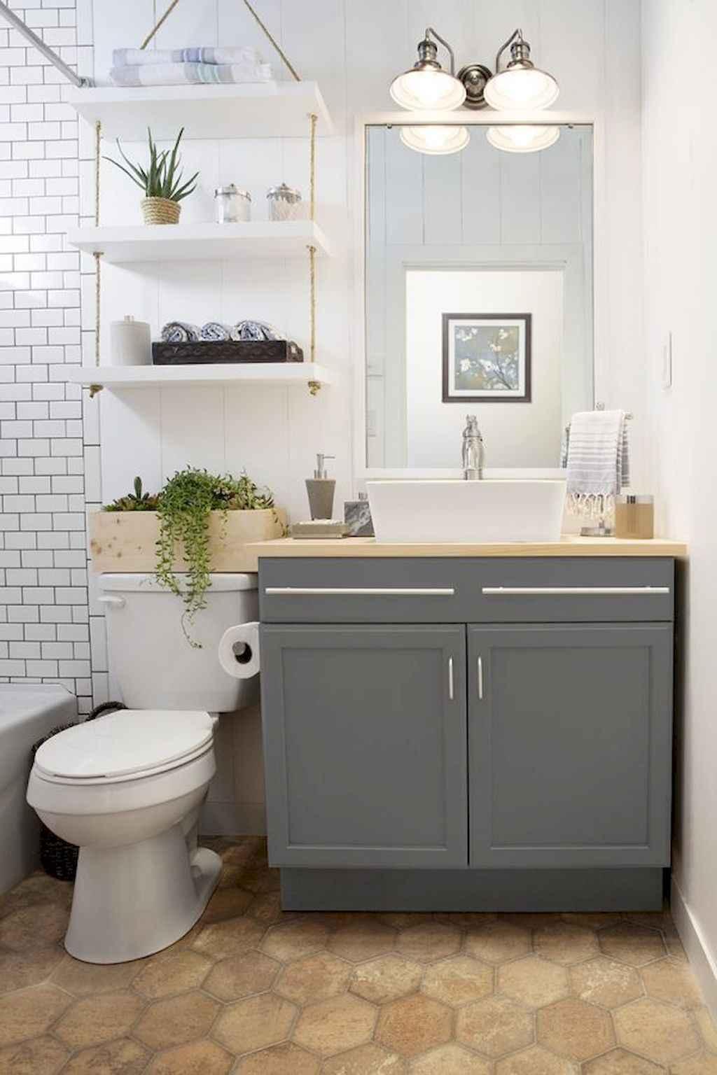 Cool bathroom storage shelves organization ideas (51)
