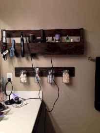 Cool bathroom storage shelves organization ideas (52)
