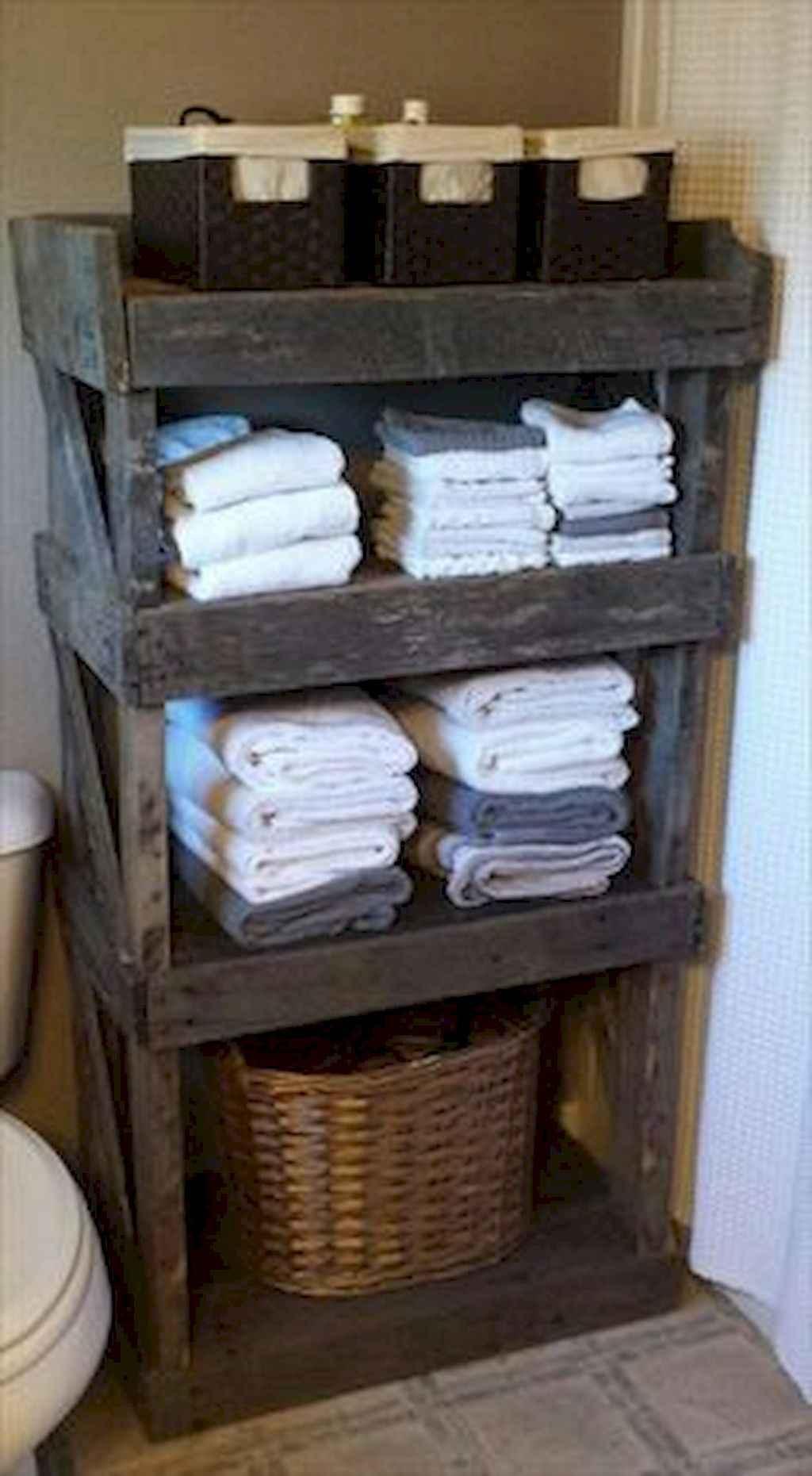 Cool bathroom storage shelves organization ideas (60)