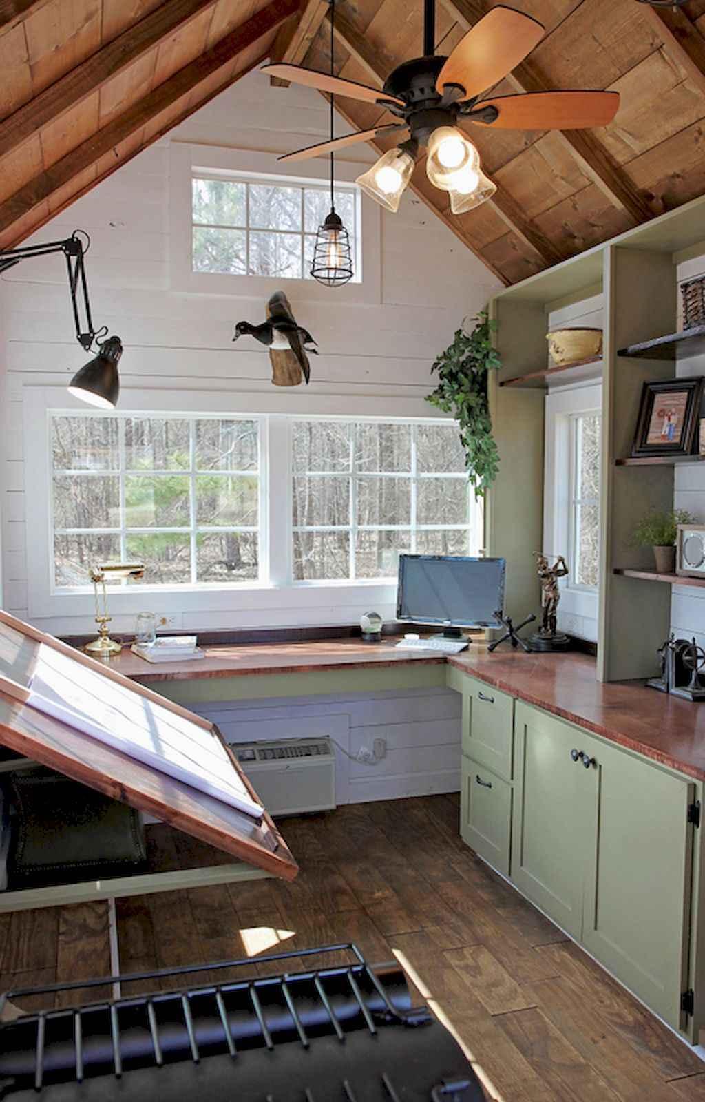 Cool diy backyard studio shed remodel design & decor ideas (10)