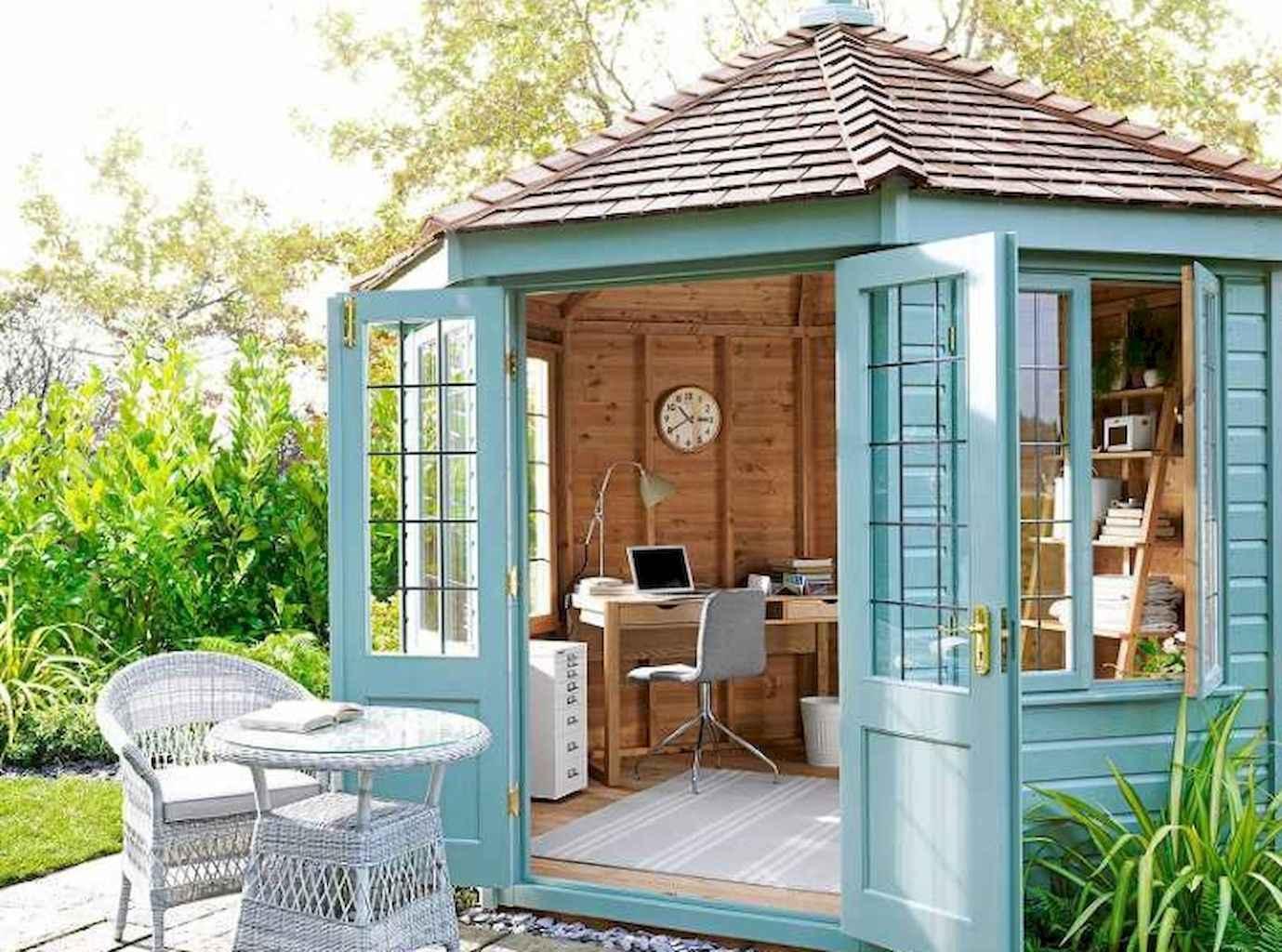 Cool diy backyard studio shed remodel design & decor ideas (11)