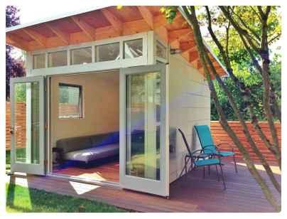 Cool diy backyard studio shed remodel design & decor ideas (19)