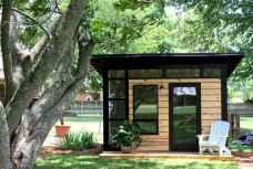 Cool diy backyard studio shed remodel design & decor ideas (21)