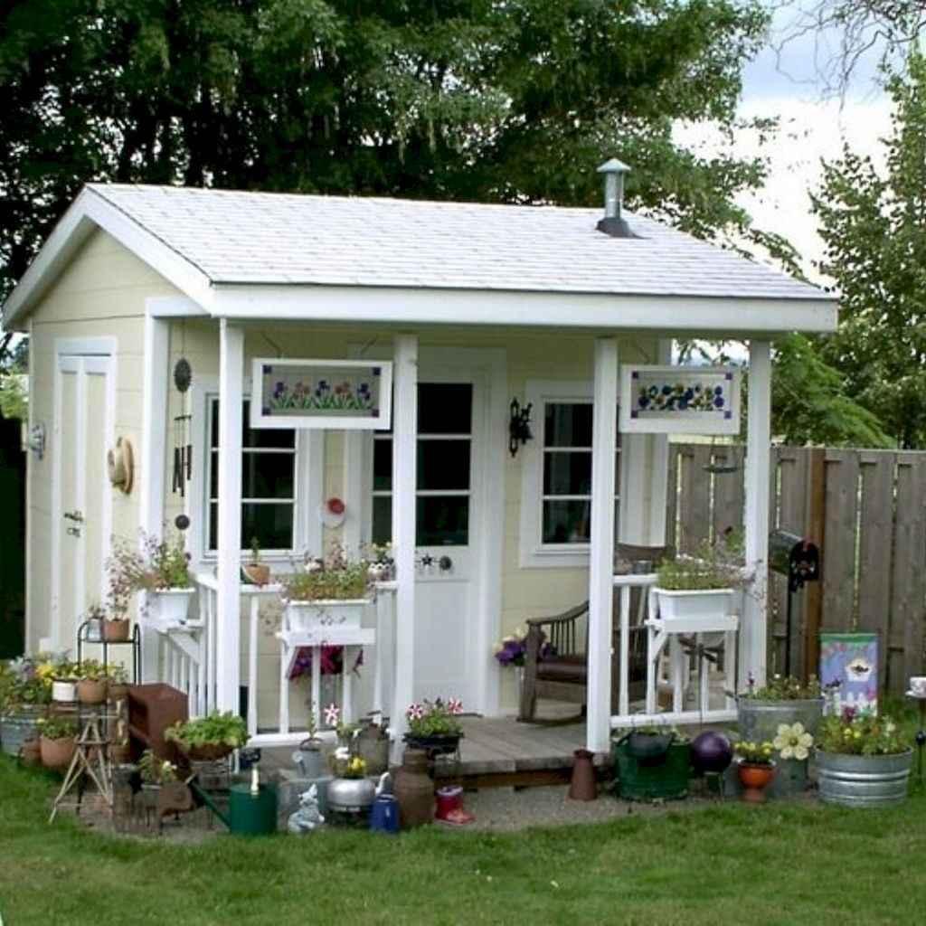 Cool diy backyard studio shed remodel design & decor ideas (27)