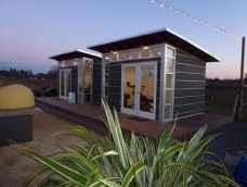 Cool diy backyard studio shed remodel design & decor ideas (32)