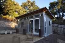 Cool diy backyard studio shed remodel design & decor ideas (36)
