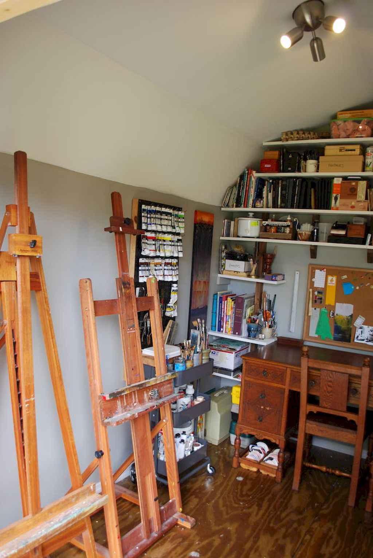 Cool diy backyard studio shed remodel design & decor ideas (48)
