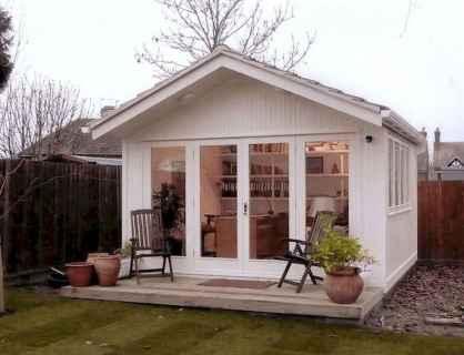 Cool diy backyard studio shed remodel design & decor ideas (49)