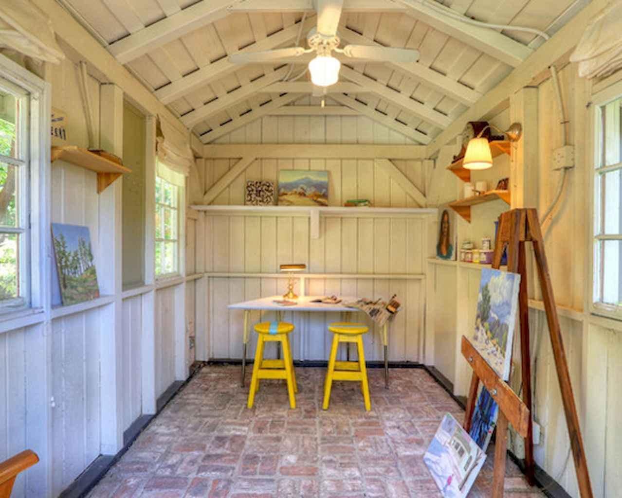 Cool diy backyard studio shed remodel design & decor ideas (5)