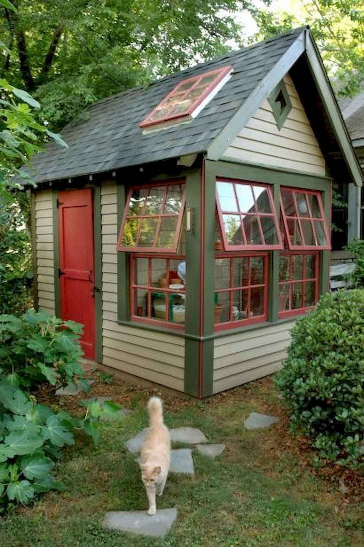Cool diy backyard studio shed remodel design & decor ideas (50)