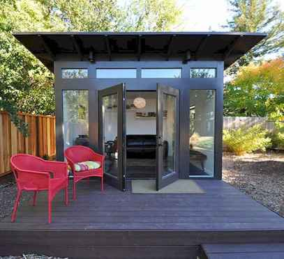 Cool diy backyard studio shed remodel design & decor ideas (51)