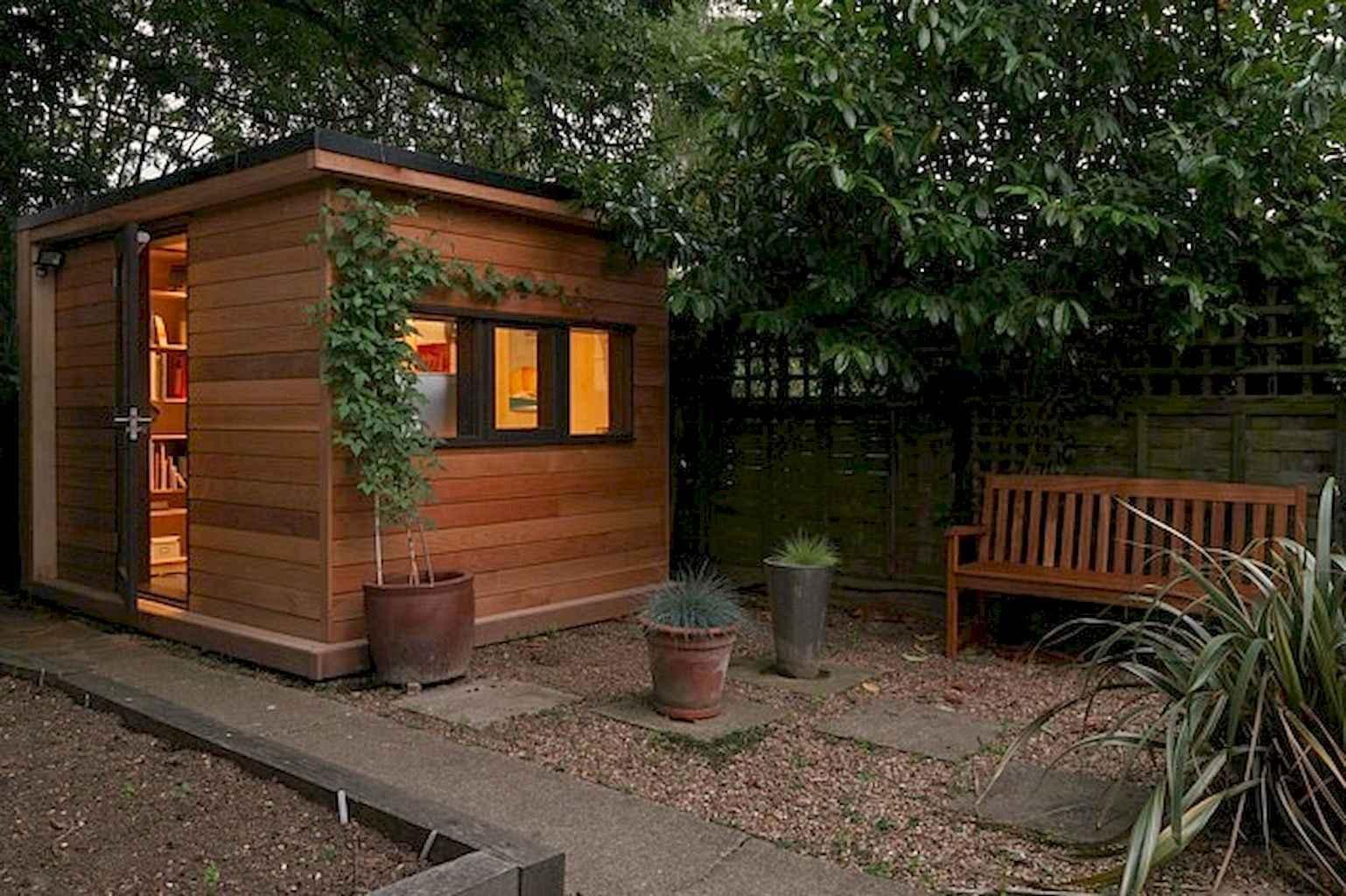 Cool diy backyard studio shed remodel design & decor ideas (52)