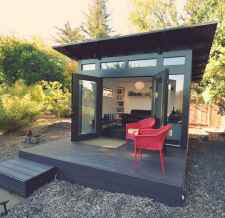 Cool diy backyard studio shed remodel design & decor ideas (53)
