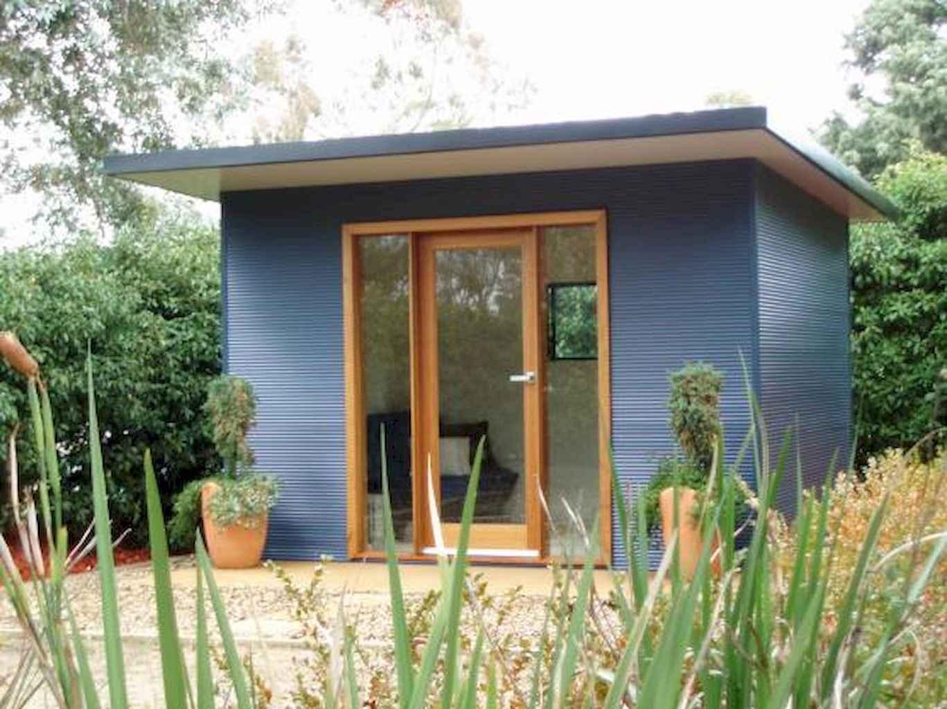 Cool diy backyard studio shed remodel design & decor ideas (6)