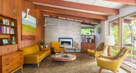 Cool mid century living room decor ideas (41)