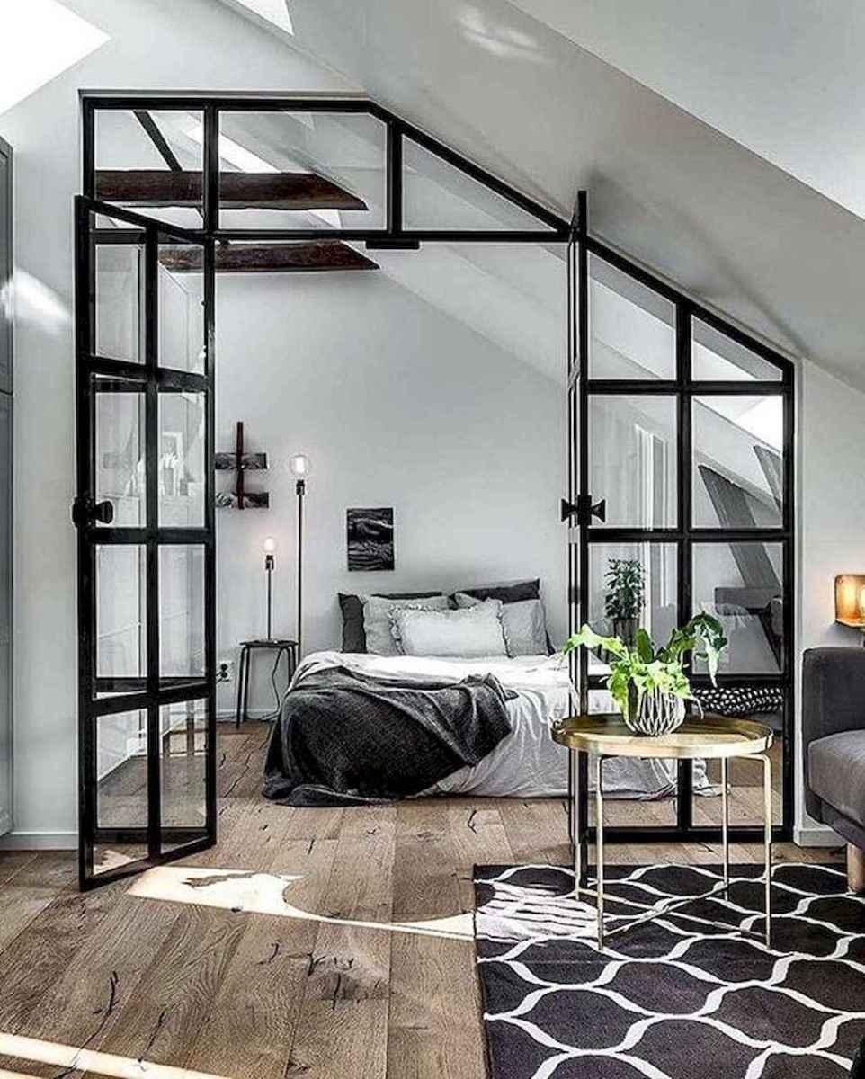 Cozy attic loft bedroom design & decor ideas (32)