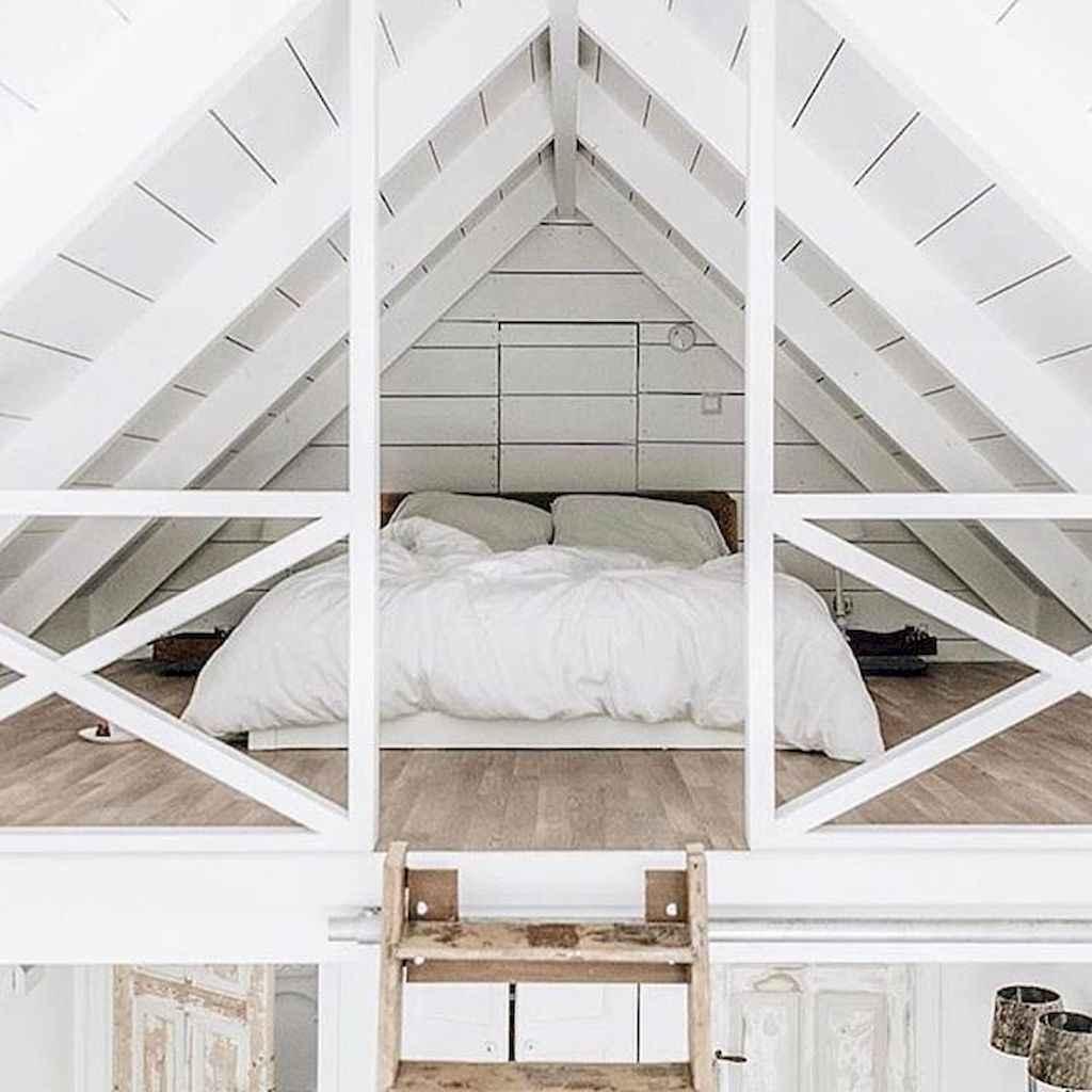 Cozy attic loft bedroom design & decor ideas (39)