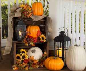 Creative diy fall porch decorating ideas (12)